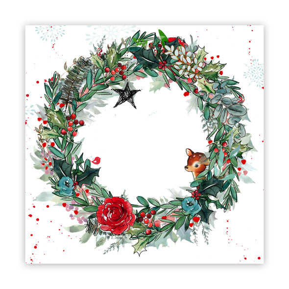 Paper | Boughs of Holly 12x12 (single-sided)