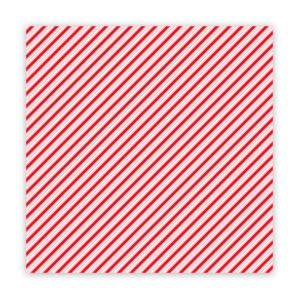 Paper | Stick Candy | Cherry 12x12 (single-sided)