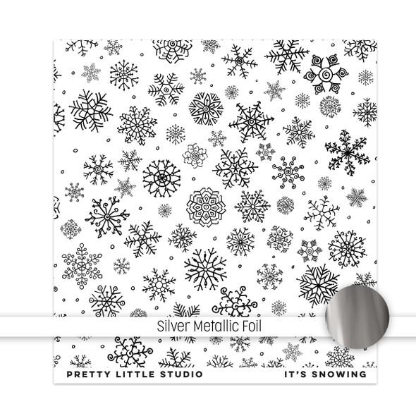 Metallic Paper | It's Snowing 8x8