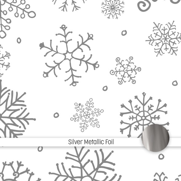 Metallic Clear | It's Snowing 8x8