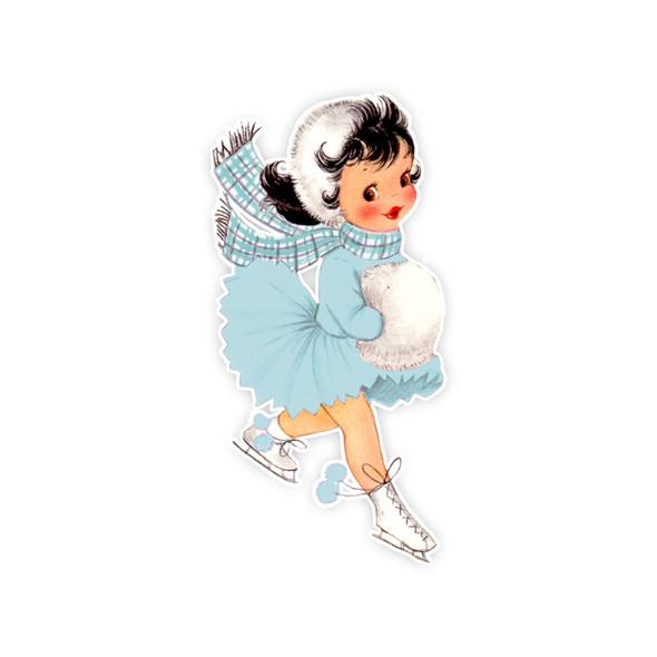 Vintage Die-Cut   Alyssa #3   Blue
