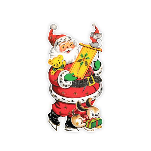 Vintage Die-Cut | Santa #31 | 6 inch