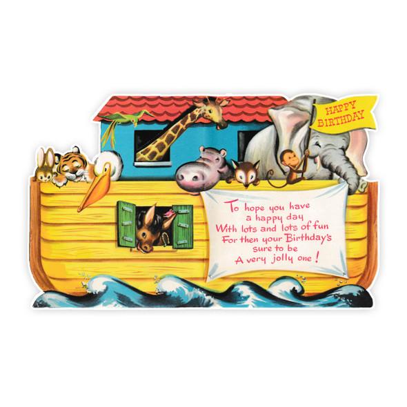 Vintage Die-Cut | Noah's Ark | 6 inch
