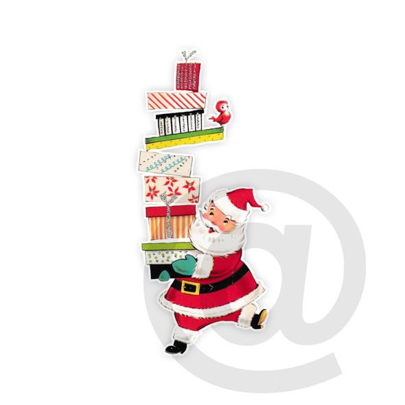 Vintage Die-Cut | Santa #32 | 6 inch
