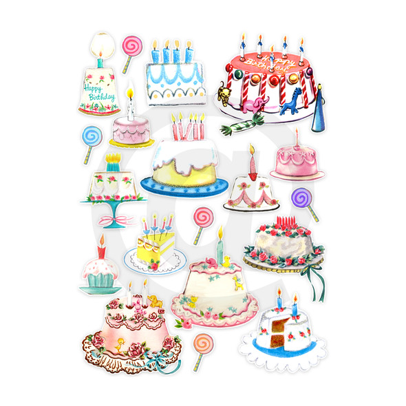 Die-cuts | Birthday Cake (pack)