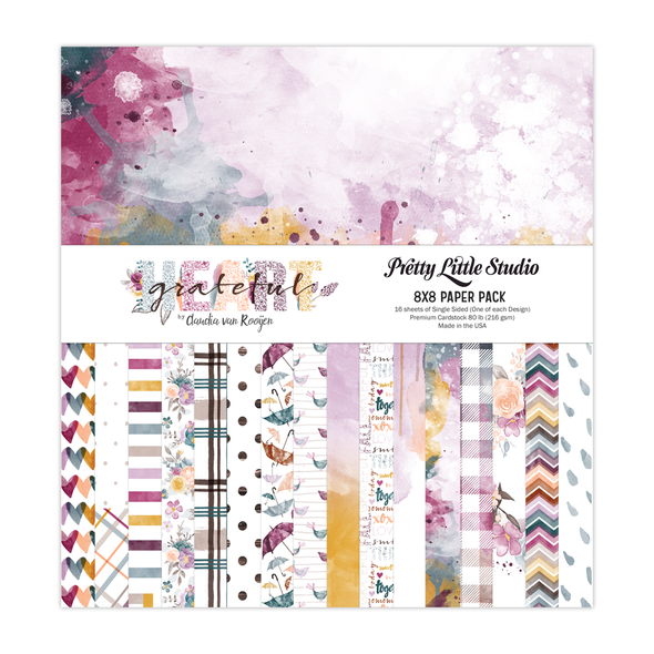 Paper Pack | Grateful Heart 8x8 (single-sided)