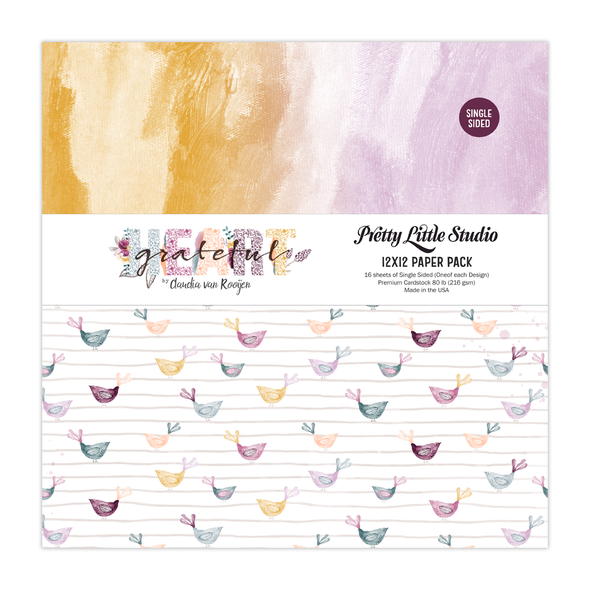 Paper Pack | Grateful Heart 12x12 (single-sided)