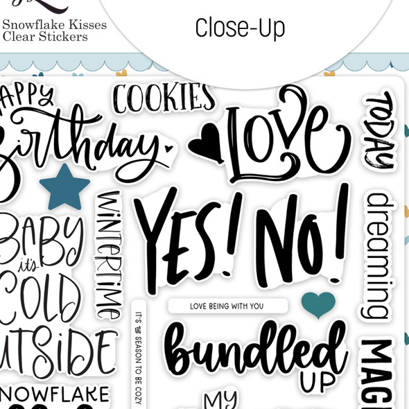 Stickers | Snowflake Kisses | Clear