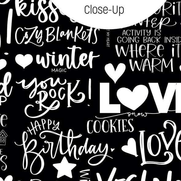 Paper | Snowflake Kisses | Black 8x8