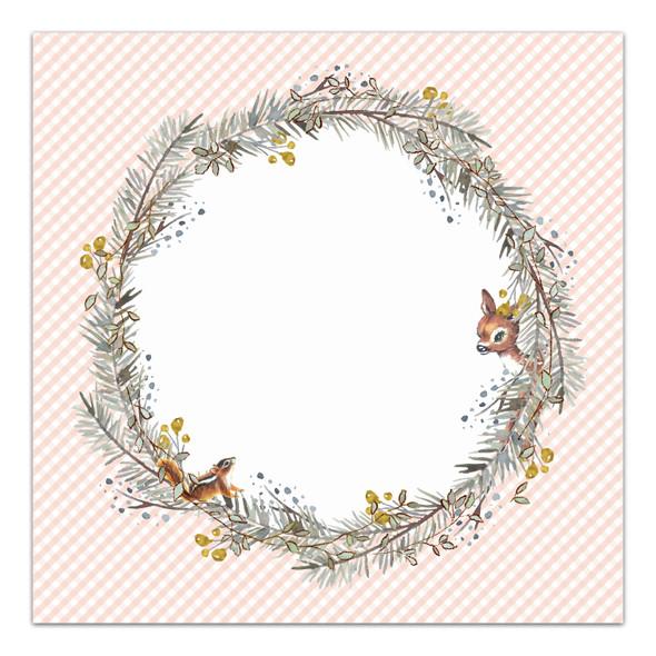 Paper | Winter Cottage | Peach 8x8