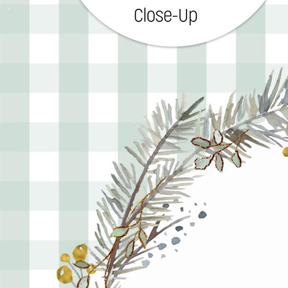 Paper | Winter Cottage | Sage 8x8