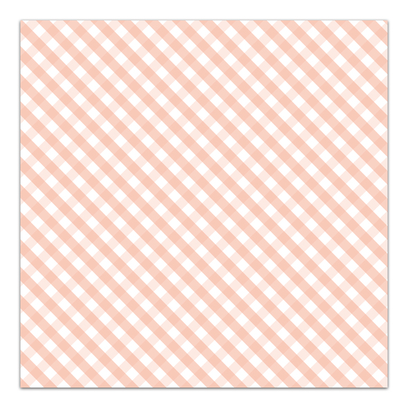 Paper | A Button Nose | Peach 8x8