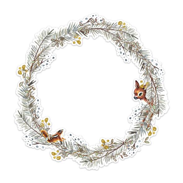 "Die Cut | Woodland Wreath | 8"""