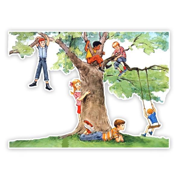 "Vintage Die-Cut | Climb a Tree | 4"""