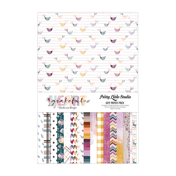 Paper Pack | Grateful Heart 6x9 (single-sided)