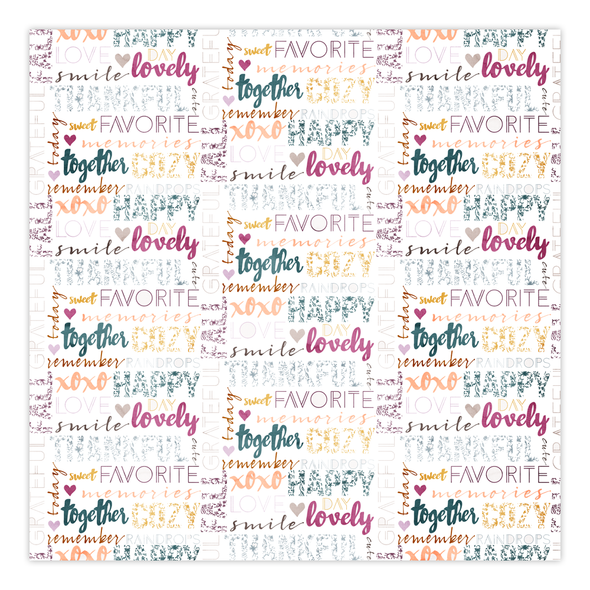 Paper | Lovely Together 12x12 (single-sided)