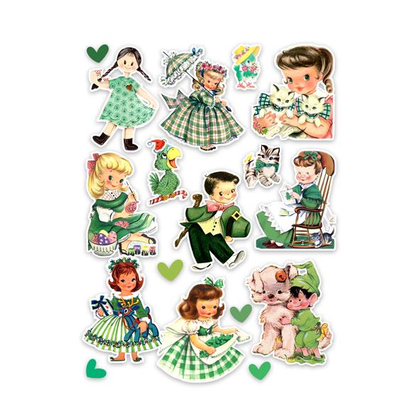 Die-cuts | Green Dress (pack)