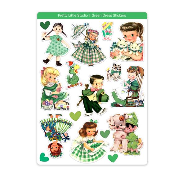 Stickers | Green Dress (vintage)