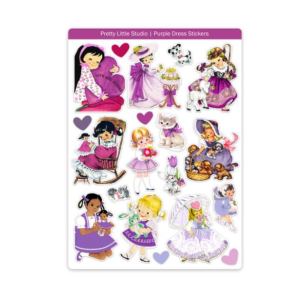 Stickers | Purple Dress (vintage)