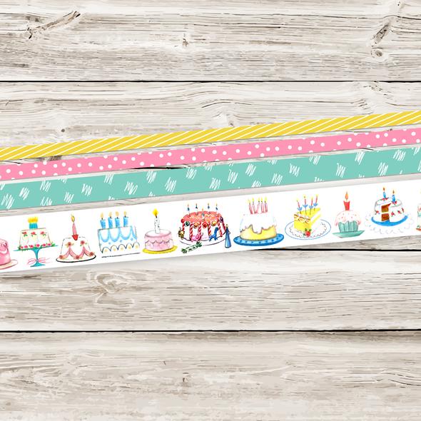 Stickers | Birthday Cake Vintage (tape)
