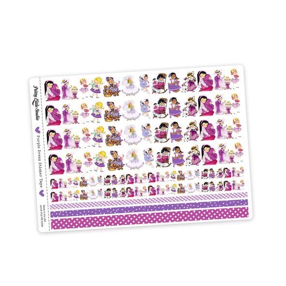 Stickers | Purple Dress Vintage (tape)