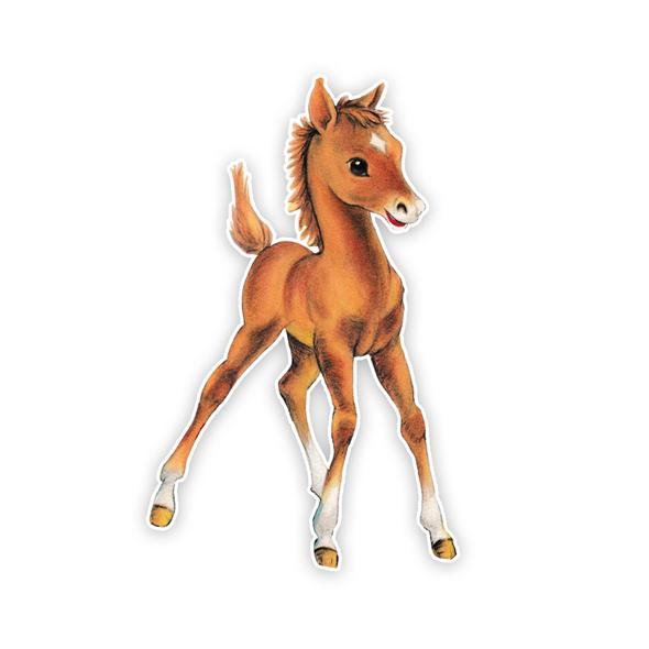 Vintage Die-Cut | Chestnut Pony