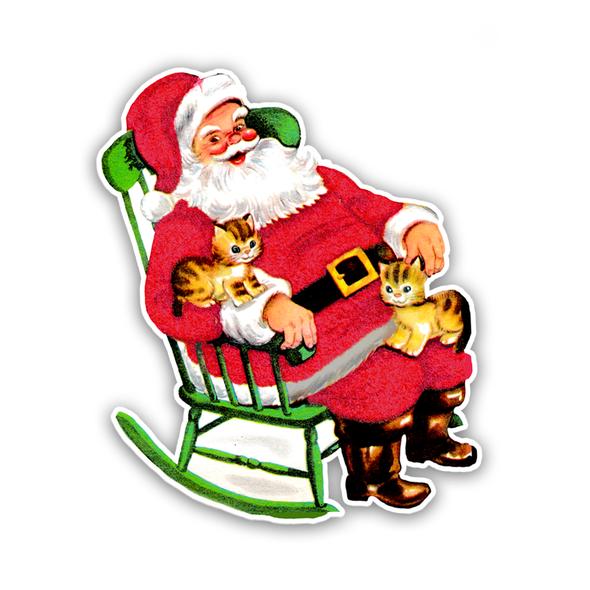 Vintage Die-Cut | Santa 33 | Red | 6 inch
