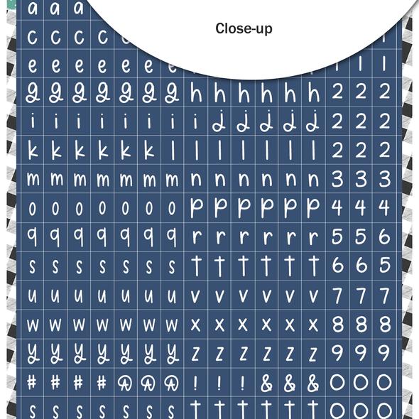 Stickers | Mini ABC | Navy Stocking