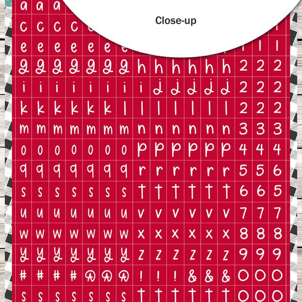 Stickers | Mini ABC | Red Stocking