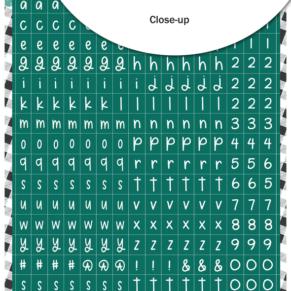 Stickers | Mini ABC | Teal Stocking