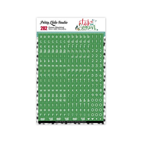 Pre-Order | Stickers | Mini ABC | Green Stocking