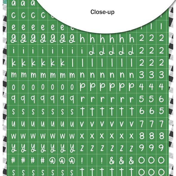 Stickers | Mini ABC | Green Stocking