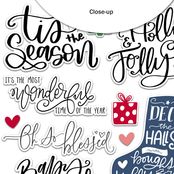 Pre-Order | Stickers | Holly Jolly | Clear