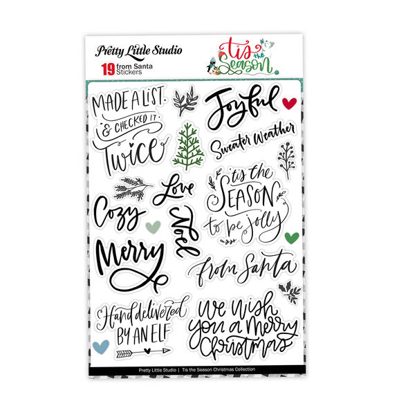 Pre-Order | Stickers | From Santa | Clear