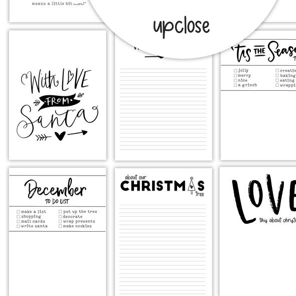 Pre-Order | Journaling Cards | Jingle Bells 3x4