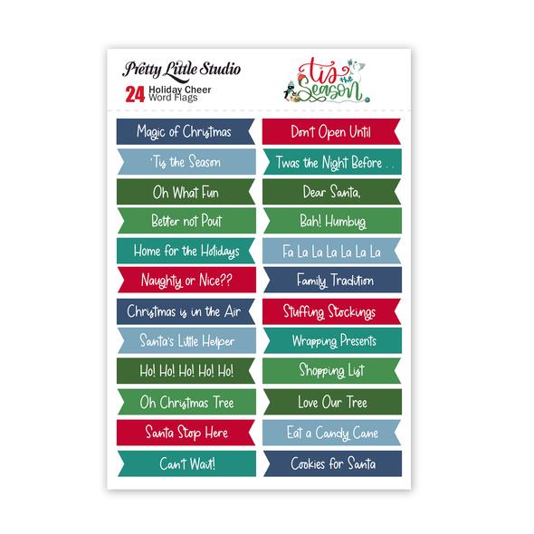 Cut-Aparts | Holiday Cheer Word Flags