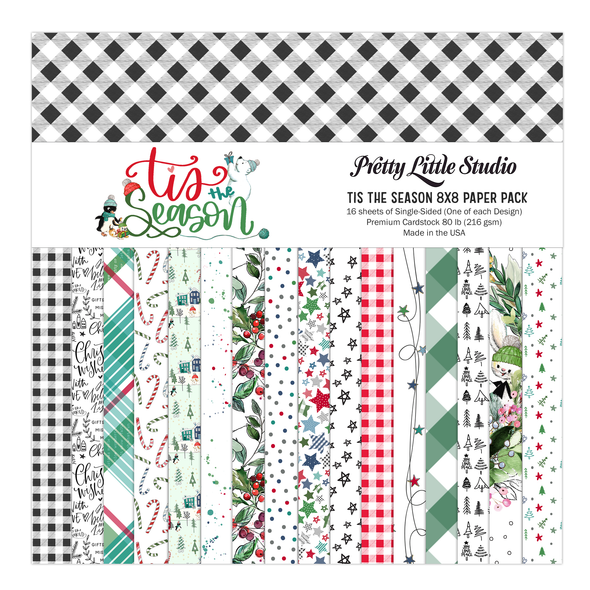 Paper Pack | Tis the Season 8x8 (single-sided)