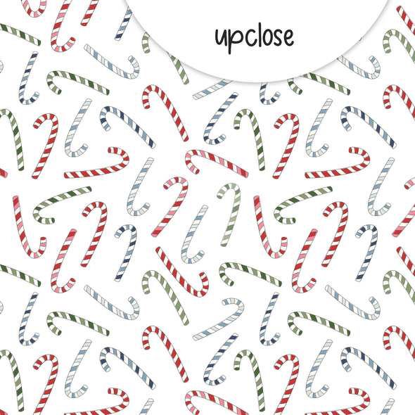 Paper | Candy Cane 12x12 (single-sided)