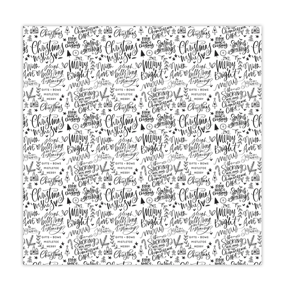 Paper | Merry & Bright | BW 12x12 (single-sided)