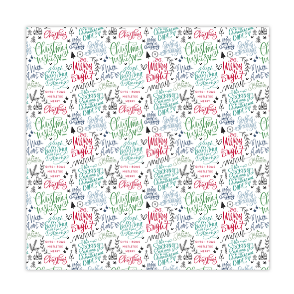 Paper | Merry & Bright 12x12 (single-sided)