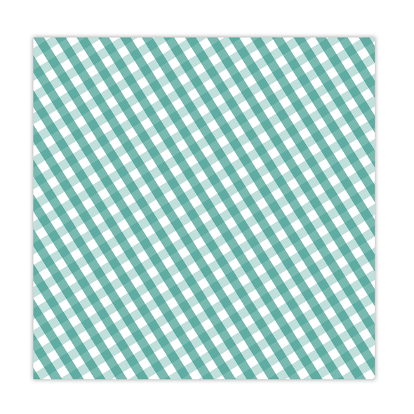 Paper | Tidings | Teal 12x12 (single-sided)