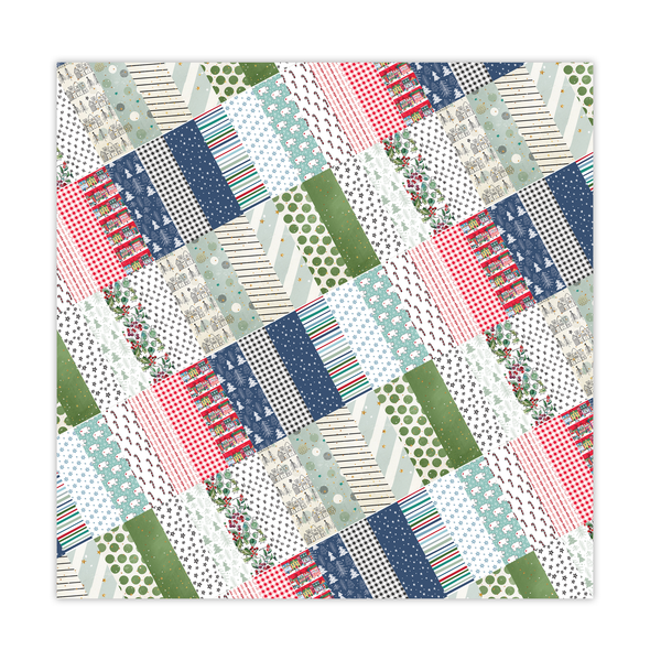 Paper | Christmas Quilt 8x8