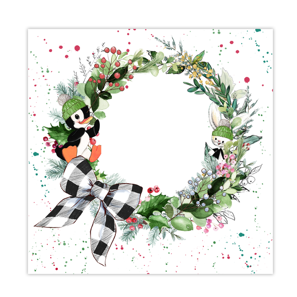 Paper | Holiday Wreath 8x8