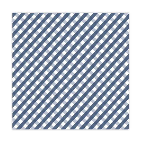 Paper | Tidings 8x8 | Navy