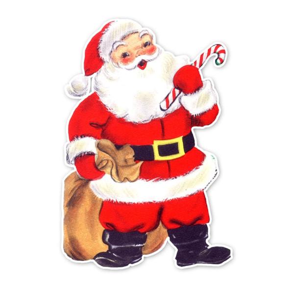 Vintage Die-Cut | Festive Santa | 10 inch
