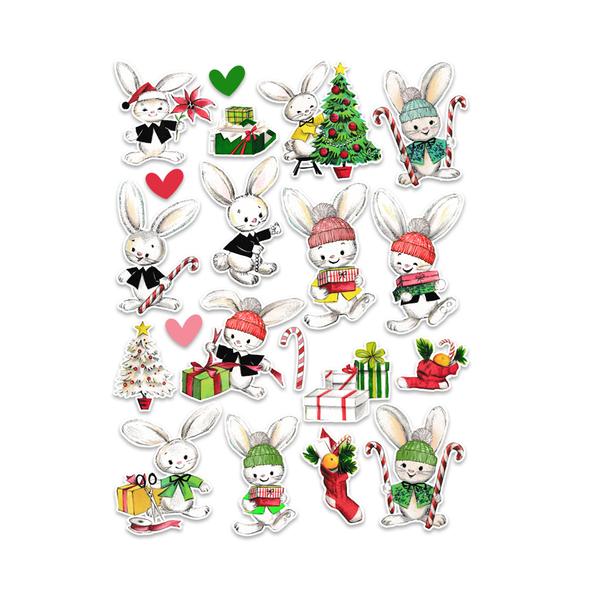 Pre-Order | Die-cuts | Bunny Christmas (pack)