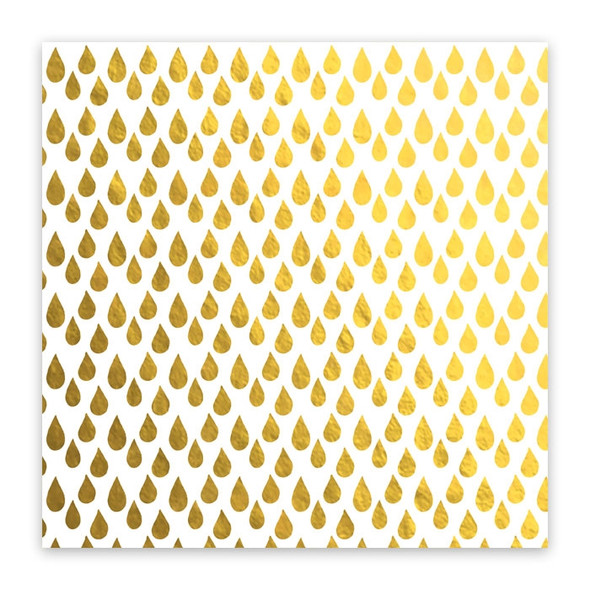Metallic Vellum | Raindrops | Gold