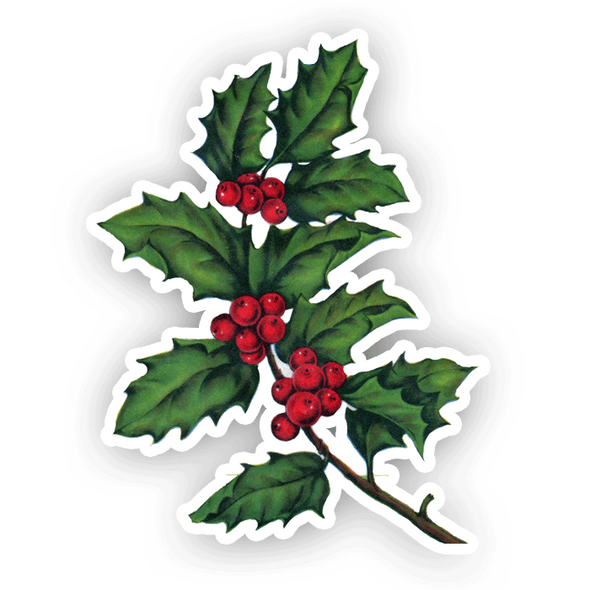 Vintage Die-Cut | Holly Leaves
