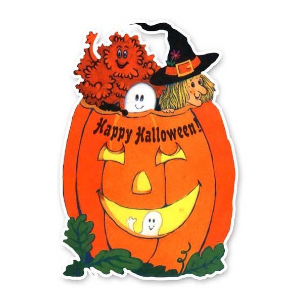 Vintage Die-Cut | Halloween Pumpkin