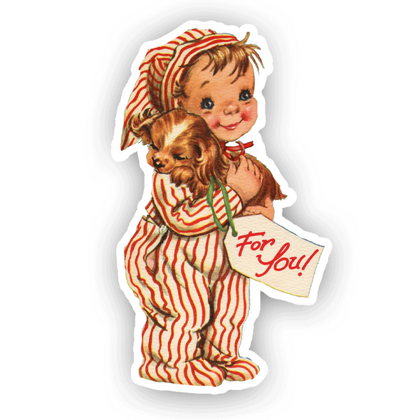 Vintage Die-Cut | For You Little Boy Christmas